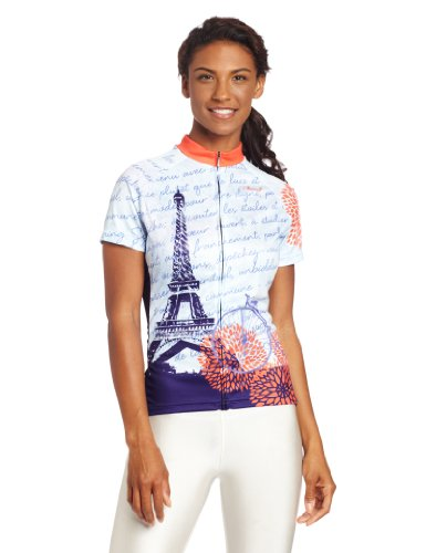 Primal Wear Women's Mon Ami Cycling Jersey, Blue Orange, - Bike Wear Primal