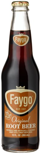 Faygo ROOT BEER, 12-Ounce Longneck Glass Bottles with Organic Paint (Pack of 12)