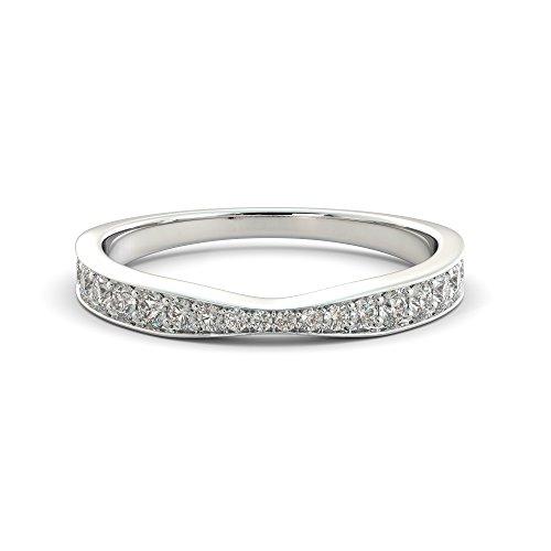 Platinum Wedding Band .55 ct Natural Diamond Ring Ladies Bridal Graduated Twist Solid Vintage