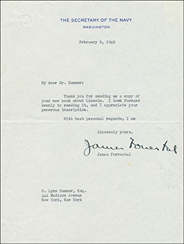 James Forrestal Typed Letter Signed 02/06/1946