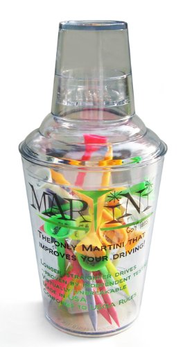 Martini Golf Tees 150 Assorted Color in Large Shaker by Golfmax (Image #1)