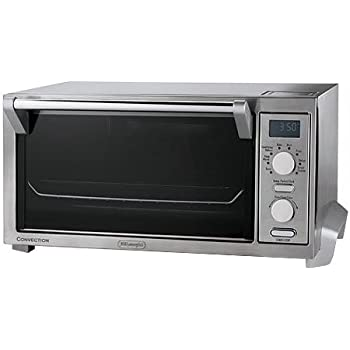 Delonghi digital convection oven and toaster features convection cooking of 30 40 for Toaster oven stainless steel interior