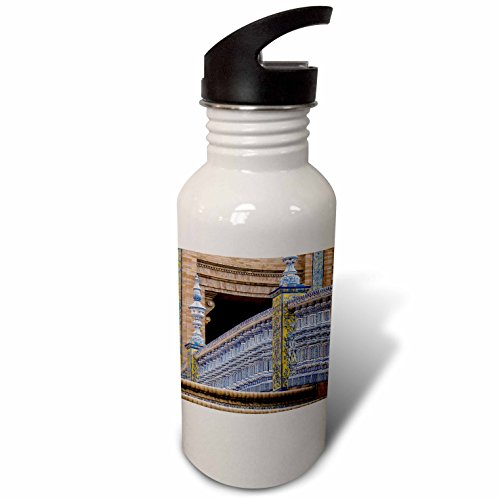 3dRose Danita Delimont - Bridges - Spain, Andalusia, Seville. Plaza de Espana, regionalism architecture. - Flip Straw 21oz Water Bottle (wb_277886_2) by 3dRose