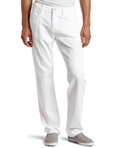 Hudson Jeans Men's Byron Straight Leg Jean in White, White, 36 by Hudson Jeans