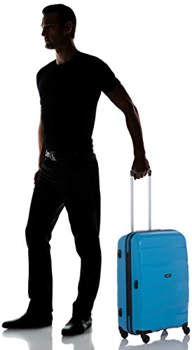 412%2BsfaRy3L - American Tourister Bon Air Spinner M Maletas y trolleys, 66 cm, 53 L, Azul (Azul)