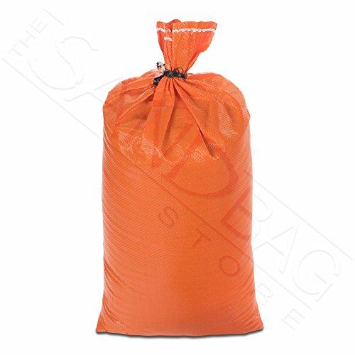 The Sandbag Store - HD Sandbags 4000 UV HR 14x26 Polypropylene with Ties (10, Orange)