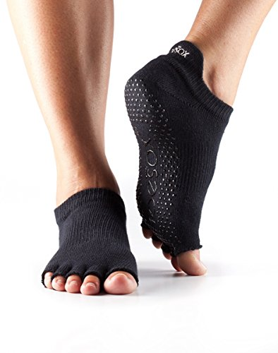 Toesox Half Toe Low Rise Grip Socks Black xHtm9EEWt