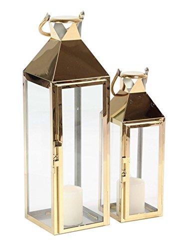 Deco 79 70089 Candle Lantern, - Gold Lanterns