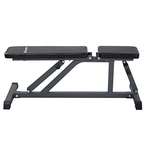 Goplus Adjustable Folding Sit Up AB Incline Abs Bench Flat Fly Weight Workout
