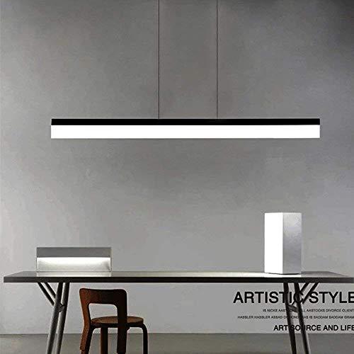 LED Lámpara de Oficina, Lámpara Colgante 20W Iluminación Luz de Trabajo Brillo Regulable con Control Remoto Material de Metal y Acrílico Estilo ...
