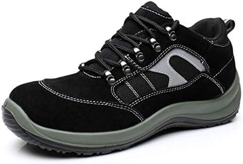 安全靴 スニーカー メンズ レディース トレッキングシューズ レザー 軽量 通気性 作業靴 つま先保護 刺し傷防止 滑り止め ウォーキングシューズ おしゃれ 耐油 耐滑 防臭 衝撃吸収 男女兼用 軽作業用 登山靴