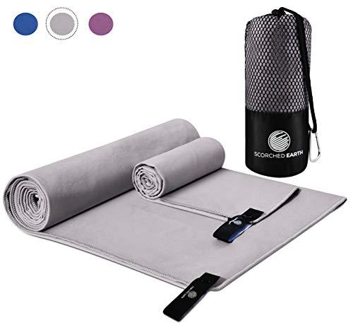 ScorchedEarth Microfiber Travel & Sports Towel (Slate Gray)