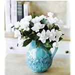 MARJON-Flowers7-Branchs-Silk-Gardenia-Artificial-Flower-Wedding-Decorative-for-Home-Decoration2-Bouquets-White