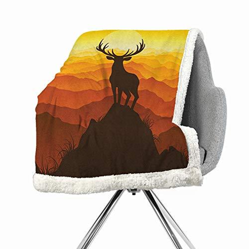 BenmoHouse Antlers Berber Fleece Flannel Bed Blankets 60