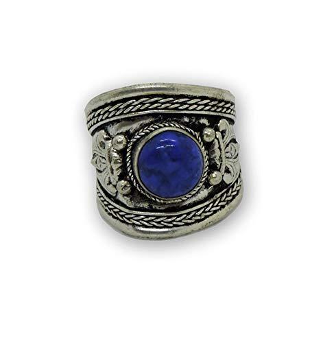 Hands Of Tibet Tibetan Om Mani Padme Hum Healing Ring (Lapis) (Om Mani Padme Hum Om Mani Padme Hum)