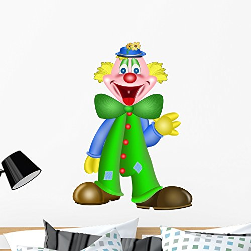 Wallmonkeys Lachender Clown Peel and Stick Wall Decals WM48293 (36 in H x 28 in W)