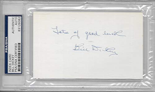 Bill Dickey Autographed And Inscribed Index Card Psa/Dna Certified Authentic
