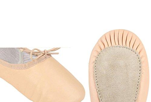 MORCHAN 1 paire de 205 chaussures de ballet Leather (Toddler/Little Kid) (28, Rose)