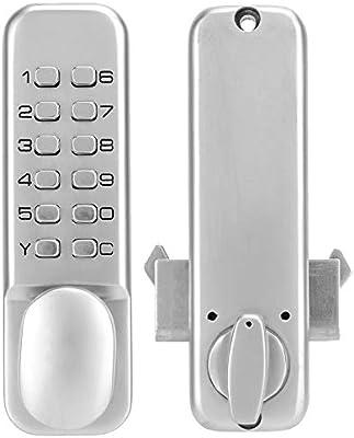 Ponacat cerradura de contraseña de puerta corredera Pestillo de ...