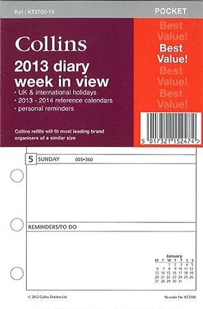 Collins KT3700-13 - Recambio para agenda de 2013 con vista ...