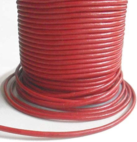 AURORIS - 5m Lederband rund - Ø 3mm - rot