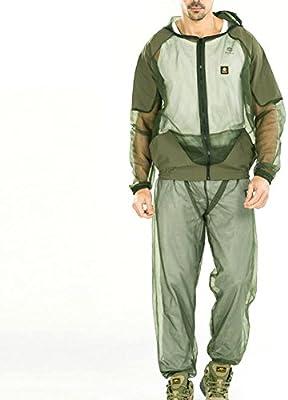 Traje de malla repelente de insectos con capucha, chaqueta ...