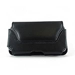 Black Color Horizontal Leather Cover Belt Clip Side Magnetic Closing Case Pouch Holster For HTC One V Primo T320e