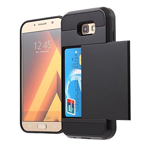 Samsung Galaxy A5 2017 Funda,Cartera de Diseño y Ranura de la Tarjeta Titular Bolsillo oculto Armor Case Resistente Cubierta...