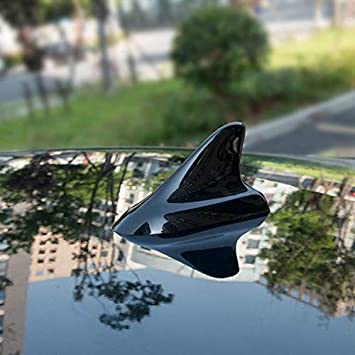 Folconauto Universal Auto Roof Shark Fin Antenna No Signal Function with Self Decoration-Blue