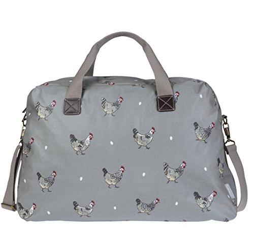 Sophie Allport Wachstuch Tasche–Weekend–Hühner-Design