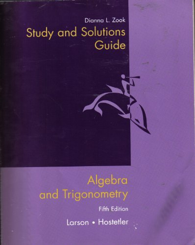 Study and Solutions Guide for Algebra and Trigonometry, 5th Edition