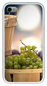 iPhone 4s Case & Cover - Fresh Grape Custom Design TPU Case Cover for iPhone 4/4s White