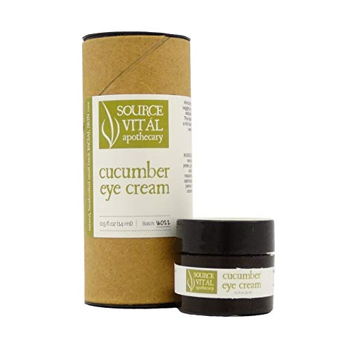 Source Vitál Apothecary | Cucumber Eye Cream | All-Natural and Hydrating, Improves the Appearance of Winkles, Puffiness and Dark Circles | .5 Oz