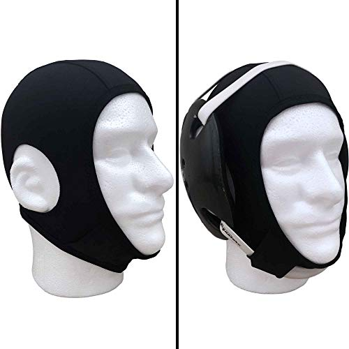Savage Wrestling Hair Cover Cap | Universal Fit for Any Headgear | Best Design with Chin and Back Straps and Open Ears Holes | Perfect for Any Grappling Sport Wrestling, Judo, Jiu Jitsu, Etc.