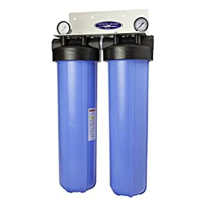 """CRYSTAL QUEST® Whole House Triple 20"""" x 5.0"""" Water Filter System"""