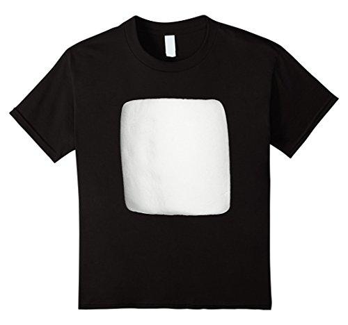 Kids Marshmallow Smores Halloween Costume Shirt 12 Black