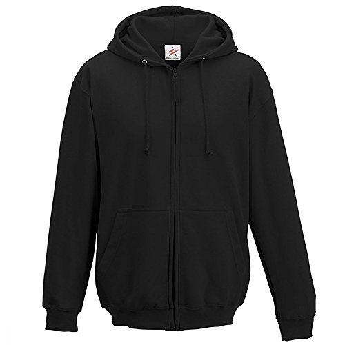 X-Large Black classic plain zip up hoodie unsex and these are ideal for mens and ladies hooded sweatshirt