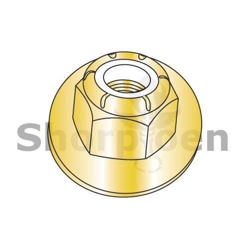 Nylon Insert Flange Hex Locknut Grade 8 Zinc Yellow 3/8-16 CE12698 (Box of 600) weight10.48Lbs