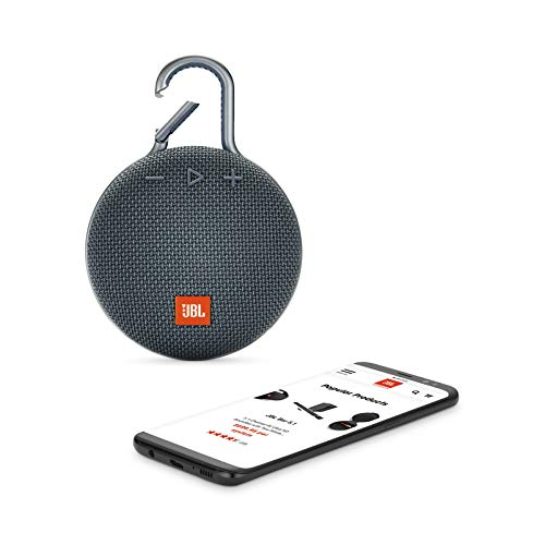 JBL Clip 3 Portable Waterproof Wireless Bluetooth Speaker JBLCLIP3BLUAM