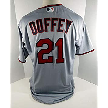 d6ce05a161bc9 2018 Minnesota Twins Tyler Duffey #21 Game Used Grey Jersey - Game Used MLB  Jerseys