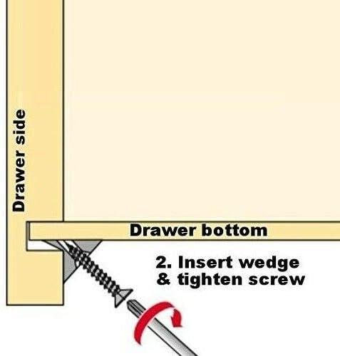 FURNICA 50x Home Fittings Furniture Drawer Bottom Sagging Repair Fix Mend Mending Wedges