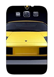 TLBOFXx3809lSkGO Yellow Lamborghini Murcielago Front View Fashion Tpu S3 Case Cover For Galaxy
