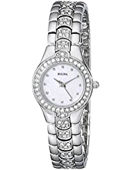 Bulova Womens 96T14 Crystal Watch