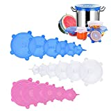 Silicone Stretch Lids, 18 Pack Reusable Silicone