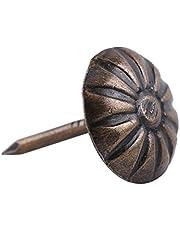 100 stuks antieke bronzen bekleding spijkers houten decoratieve bevestigingsbouten voor hoofddecoratie decoratie (size: type 7-green brons)