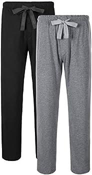 DAVID ARCHY Men's Comfy Jersey Cotton Knit Pajama Lounge Sleep