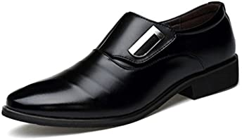 Seakee Men's Business Slip-on Dress Shoes Semi-formal Oxford