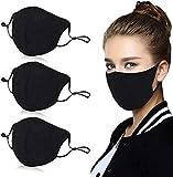 Aniwon 3 Pack Unisex Mouth Mask Adjustable Anti