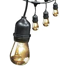 Feit Electric 72041 30' 10-Socket, 15 Bulbs, Outdoor String Light Set