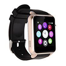 LENCISE SuperWatch Smart Watch Bluetooth NFC Connectivity Sports Watch with Heart Rate Monitor,Touch Screen and Magnetic Charging for Android Apple IOS